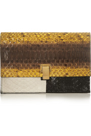 Proenza Schouler The Lunch Bag small python clutch