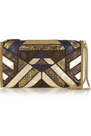Lanvin Private python, ratsnake and elaphe clutch
