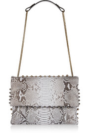 Sugar medium embellished python shoulder bag