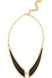 Butterfly gold-plated horn necklace