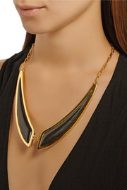 Maiyet Butterfly gold-plated horn necklace
