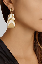 Maiyet Tiger Stripe gold-plated resin earrings