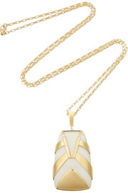 Maiyet Tiger Stripe gold-plated resin necklace