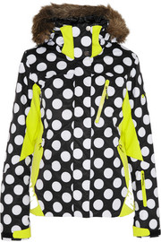+ Roxy polka-dot Dry Flight shell ski jacket