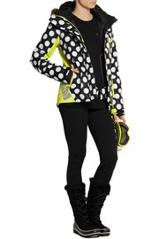 House of Holland + Roxy polka-dot Dry Flight shell ski jacket