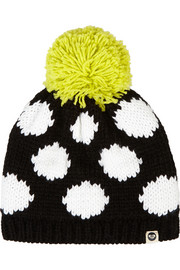 + Roxy polka-dot knitted hat