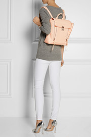 The Pashli textured-leather backpack