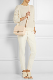 The Pashli Mini Messenger textured-leather shoulder bag