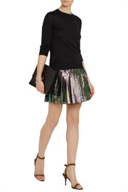House of Holland Lacke metallic leopard-print tulle mini skirt