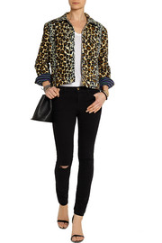 House of Holland Leopard-print velvet jacket