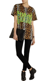 House of Holland Leopard-print cotton T-shirt