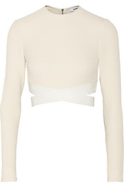 Sedonna cropped textured stretch-knit top