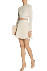 Elizabeth and James Sedonna cropped textured stretch-knit top