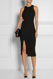 Elizabeth and James Giulia cutout stretch-cloqué dress