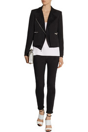Elizabeth and James Brighton layered crepe and silk-chiffon jacket