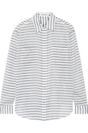 Emmanuelle striped gauze shirt