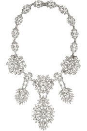 Ben-Amun Silver-plated Swarovski crystal necklace