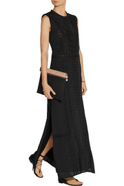 SEA Cutout embroidered cotton-voile maxi dress