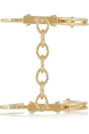 Handcuff gold-plated cuff