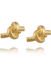 Jennifer Fisher Large Knot gold-plated earrings