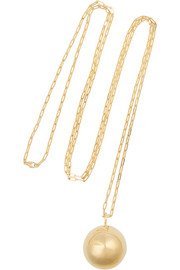 Jennifer Fisher Large Ball gold-plated necklace