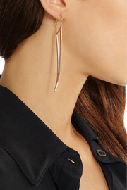 Jennifer Fisher Hollow Wing rose gold-plated earrings