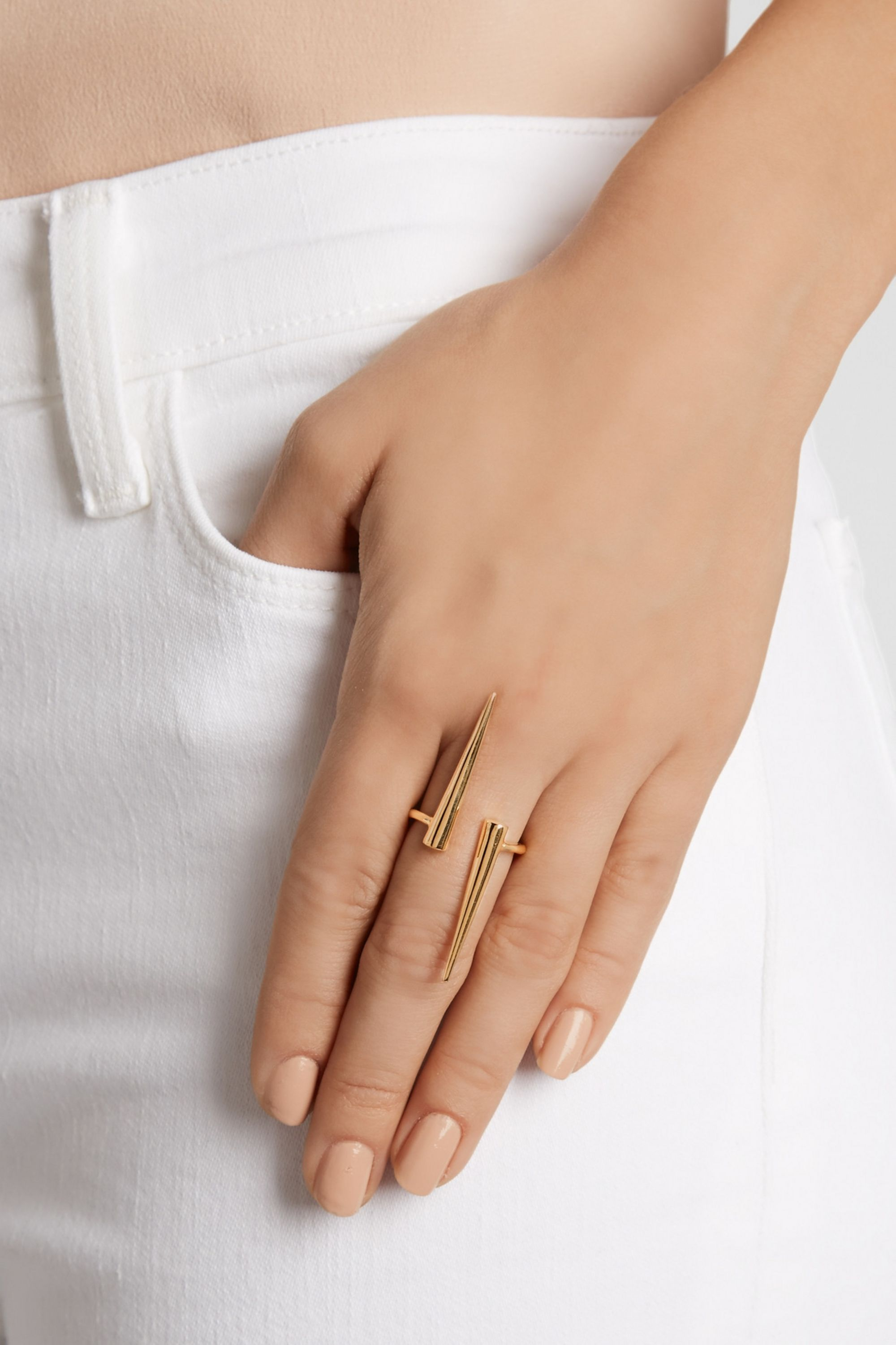 Jennifer Fisher North-South gold-plated ring