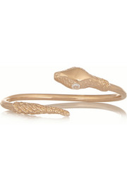 Snake rose gold-plated cubic zirconia cuff