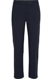 Pencil stretch cotton-blend tapered pants