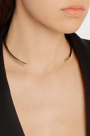 Jennifer Fisher Square Reverse gold-plated choker