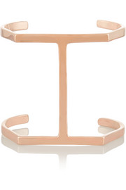 Single Bar rose gold-plated cuff