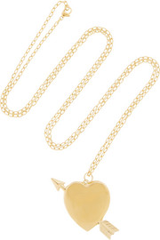 Large Heart gold-plated necklace
