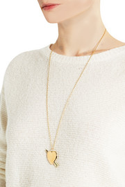 Jennifer Fisher Large Heart gold-plated necklace