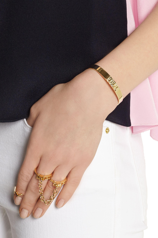 Jennifer Fisher Love gold-plated bracelet