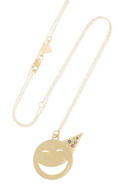 Alison Lou Party On 14-karat gold multi-stone necklace