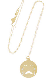 Alison Lou Cry Baby 14-karat gold diamond necklace