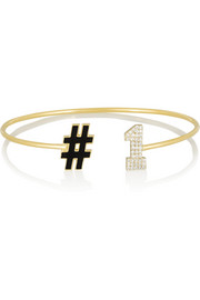 #1 14-karat gold, diamond and enamel bracelet