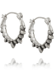 Tribal Spike silver earrings