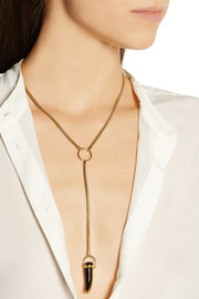 Pamela Love Gold-tone onyx necklace