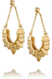 Tribal Spike gold-plated earrings