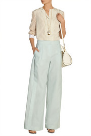 Maiyet Pleated cotton wide-leg pants