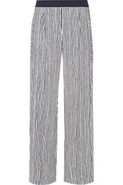 Striped silk wide-leg pants