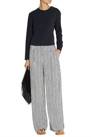 Maiyet Striped silk wide-leg pants