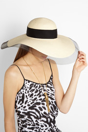 Eugenia Kim Sunny tulle-trimmed toyo sunhat