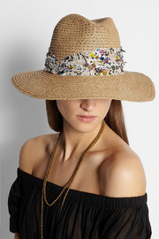 Gabriella embellished woven hat