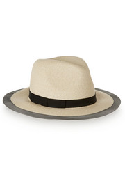 Courtney tulle-trimmed toyo trilby