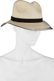 Eugenia Kim Courtney tulle-trimmed toyo trilby