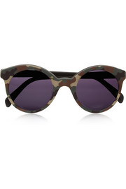 Whitechapel camouflage round-frame matte-acetate sunglasses