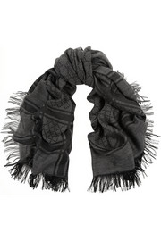 Gucci Survie wool and silk-blend scarf