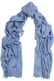 Gucci Ametista cotton, modal and cashmere-blend scarf
